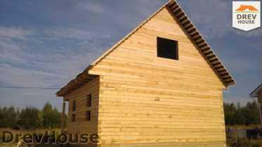 Строительство дома из бруса в поселке Иваньково   фаза 11