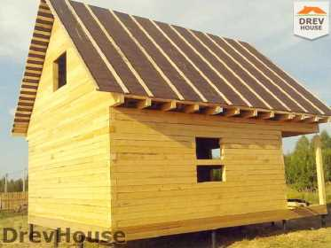 Строительство дома из бруса в поселке Иваньково   фаза 12