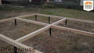 Строительство дома из бруса в поселке Иваньково   фаза 2