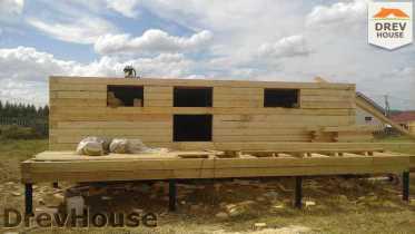 Строительство дома из бруса в поселке Иваньково   фаза 3