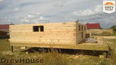 Строительство дома из бруса в поселке Иваньково   фаза 4