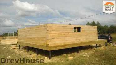 Строительство дома из бруса в поселке Иваньково   фаза 5