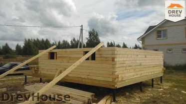Строительство дома из бруса в поселке Иваньково   фаза 6