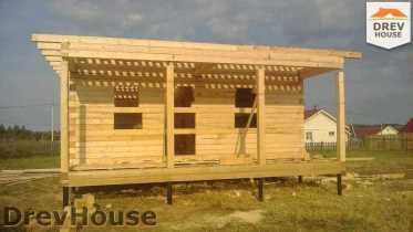 Строительство дома из бруса в поселке Иваньково   фаза 7