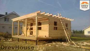 Строительство дома из бруса в поселке Иваньково   фаза 8