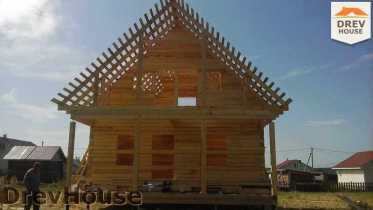 Строительство дома из бруса в поселке Иваньково   фаза 9