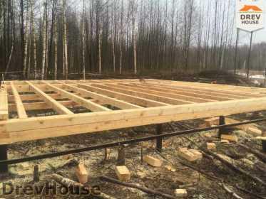 Строительство дома из бруса в поселке Львово   фаза 1