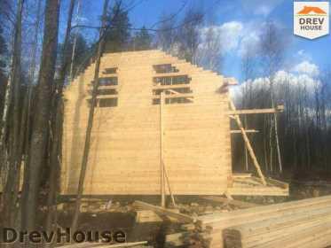 Строительство дома из бруса в поселке Львово   фаза 10
