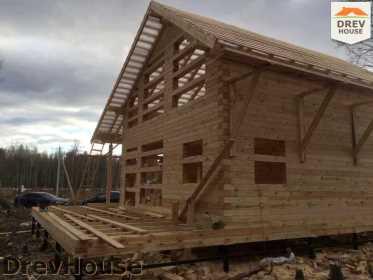 Строительство дома из бруса в поселке Львово   фаза 11