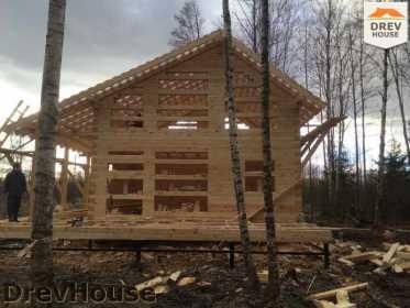 Строительство дома из бруса в поселке Львово   фаза 12