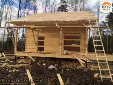 Строительство дома из бруса в поселке Львово   фаза 13