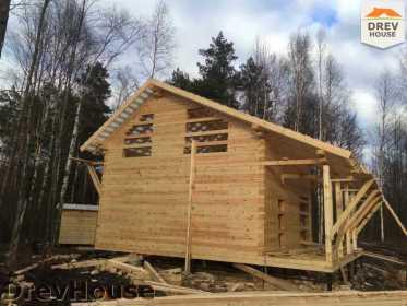 Строительство дома из бруса в поселке Львово   фаза 14