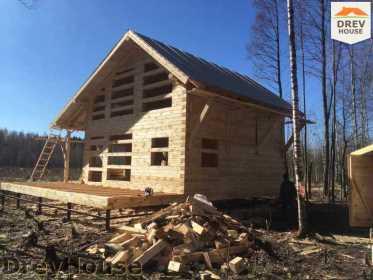 Строительство дома из бруса в поселке Львово   фаза 15