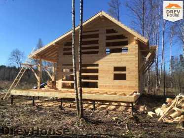 Строительство дома из бруса в поселке Львово   фаза 16