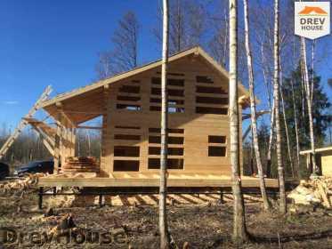 Строительство дома из бруса в поселке Львово   фаза 17