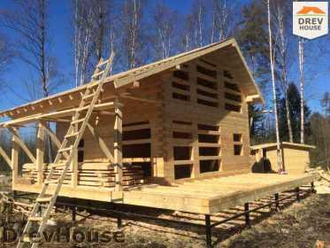 Строительство дома из бруса в поселке Львово   фаза 18