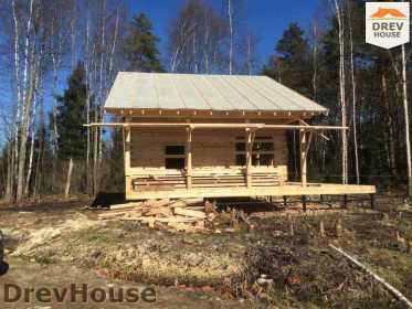 Строительство дома из бруса в поселке Львово   фаза 19