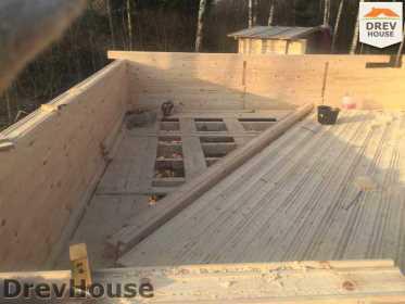Строительство дома из бруса в поселке Львово   фаза 2