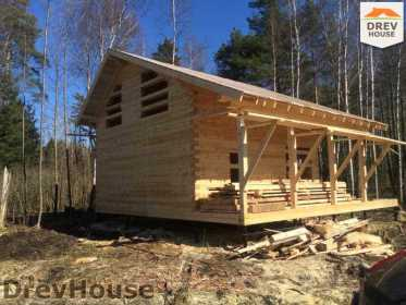 Строительство дома из бруса в поселке Львово   фаза 20
