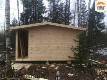 Строительство дома из бруса в поселке Львово   фаза 22