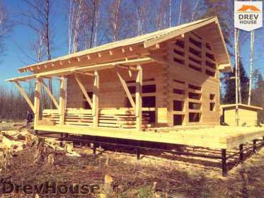 Фоторепортаж строительства дома из бруса в поселке Львово, МО