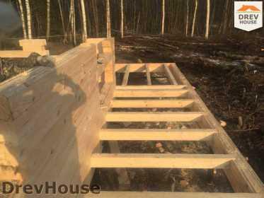 Строительство дома из бруса в поселке Львово   фаза 3