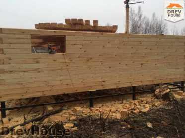 Строительство дома из бруса в поселке Львово   фаза 4