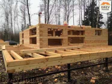 Строительство дома из бруса в поселке Львово   фаза 5