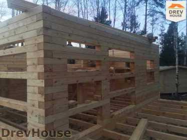 Строительство дома из бруса в поселке Львово   фаза 6