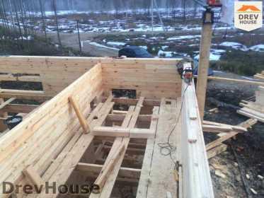 Строительство дома из бруса в поселке Львово   фаза 7