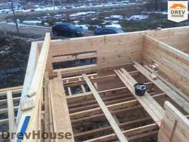 Строительство дома из бруса в поселке Львово   фаза 8