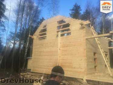 Строительство дома из бруса в поселке Львово   фаза 9