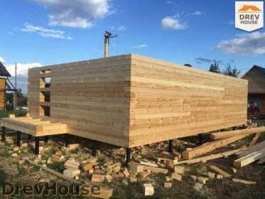 Строительство дома из бруса в поселке Мансурово   фаза 10