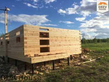 Строительство дома из бруса в поселке Мансурово   фаза 11