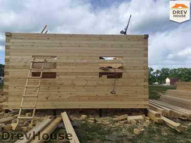 Строительство дома из бруса в поселке Мансурово   фаза 12