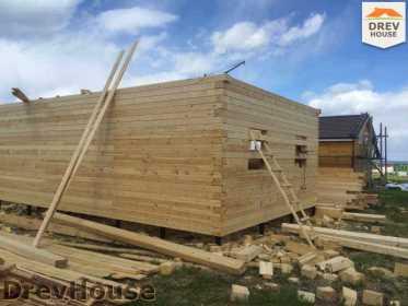 Строительство дома из бруса в поселке Мансурово   фаза 14