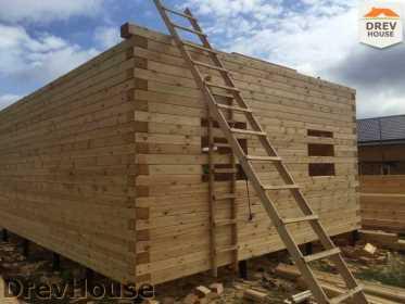 Строительство дома из бруса в поселке Мансурово   фаза 15