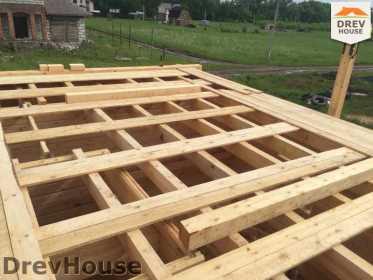 Строительство дома из бруса в поселке Мансурово   фаза 16