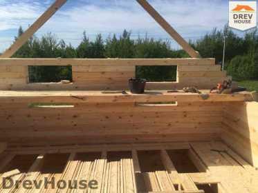 Строительство дома из бруса в поселке Мансурово   фаза 17