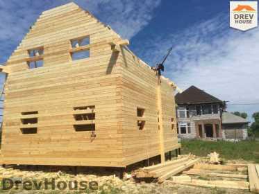 Строительство дома из бруса в поселке Мансурово   фаза 18