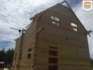 Строительство дома из бруса в поселке Мансурово   фаза 19