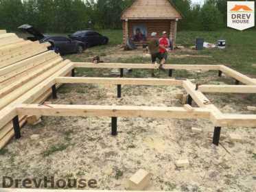 Строительство дома из бруса в поселке Мансурово   фаза 2