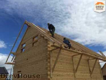 Строительство дома из бруса в поселке Мансурово   фаза 20