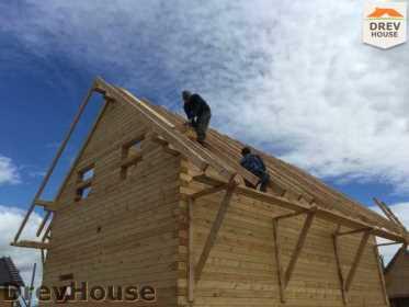 Строительство дома из бруса в поселке Мансурово   фаза 21