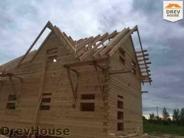 Строительство дома из бруса в поселке Мансурово   фаза 23