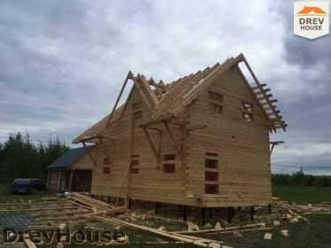 Строительство дома из бруса в поселке Мансурово   фаза 24