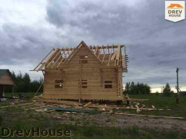 Строительство дома из бруса в поселке Мансурово   фаза 25