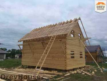 Строительство дома из бруса в поселке Мансурово   фаза 26