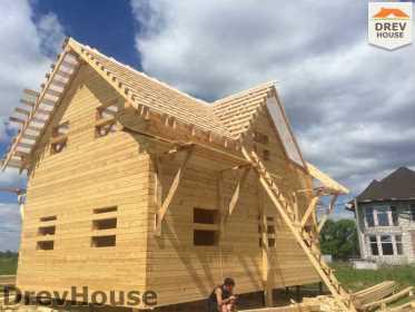 Строительство дома из бруса в поселке Мансурово   фаза 27