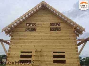 Строительство дома из бруса в поселке Мансурово   фаза 28